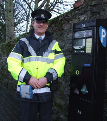 Gareth Wilson, one of the two new traffic wardens in Buncrana.