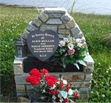 A memorial marks the spot of the Ballyargus tragedy.